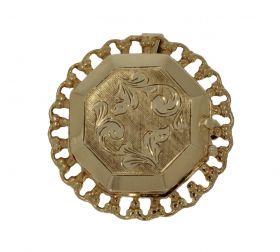 14 karaats gouden foto hanger medaillon broche