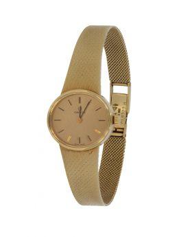 14 karaats gouden Omega dames horloge met gouden band