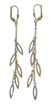 Luxe 14 karaats bicolor gouden design oorbellen