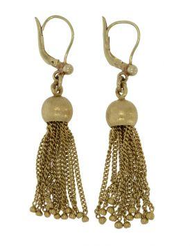 Fraai antiek set 14 karaats gouden oorbellen met kwastjes