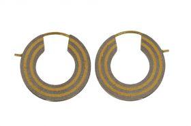 Moderne 14 karaats gouden met titanium creolen