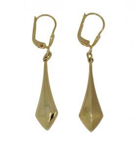 14 karaats gouden oorbellen met gematteerde bewerking