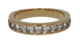 18 karaats gouden alliance ring met zirkonia
