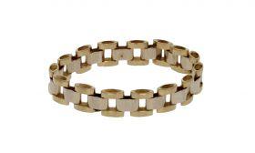 14 karaats gouden bicolor ring rolex stijl