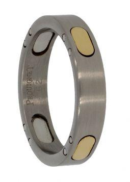 Pequignet ring met 18 karaats gouden Moorea schakels