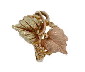 Unieke 14 karaats gouden bicolor druiventros ring