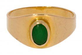 18 karaats gouden kinder ring met Jade