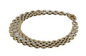 14 karaats bicolor gouden armband type rolexschakel