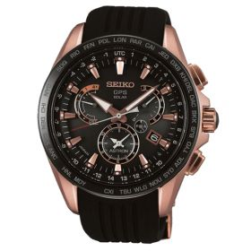 Seiko SSE055J1 Solar Dual Time Horloge