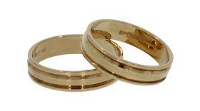 14 karaats gouden set trouw- vriendschaps ringen