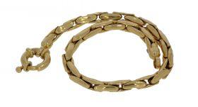 18 karaats gouden fantasie dames slot armband
