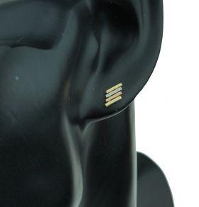 14 karaats gouden tricolor Vintage oorstekers