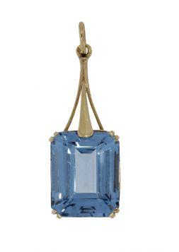 Klassieke 14 karaats gouden ketting hanger Topaas