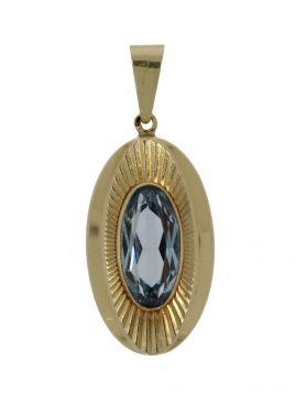 Klassieke 14 karaats gouden Vintage ketting hanger Topaas