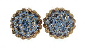 Unieke 14 karaats gouden oorbellen met talloze Topazen
