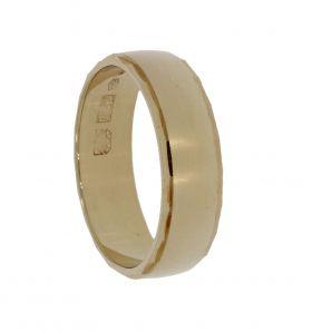 Robuuste 14 karaats gouden trouw- verlovings- vriendschapsring
