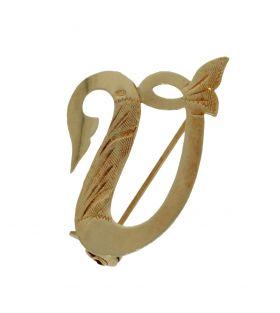 14 karaats gouden broche letter V
