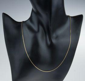 14 karaats gouden Venetiaanse schakel ketting - 42cm -