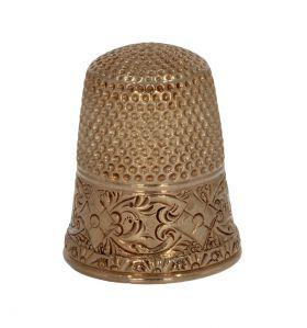 Fraai antieke 14 karaats gouden vingerhoed