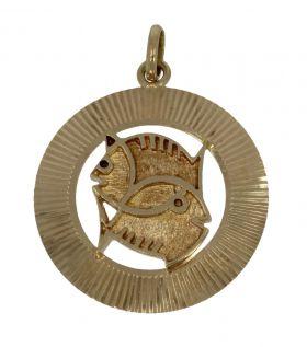 14 karaats gouden ketting hanger Vissen