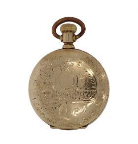 Antieke 14 karaats zakhorloge foto medaillon ketting hanger