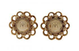 Fraai set 14 karaats gouden oorstekers Zeeuwse knoppen